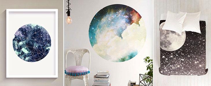 Лунный мотив в интерьере. 22 Идеи