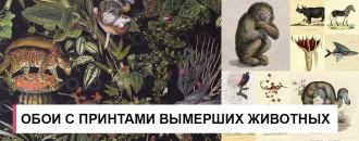 Студия Moooi выпустила обои с принтами вымерших животных