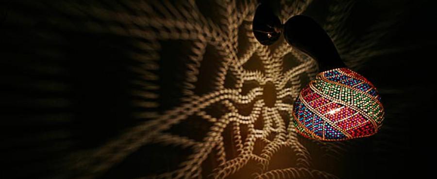 Очаровательная люстра из тыквы