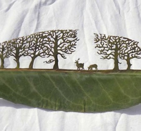 Papercut на листьях