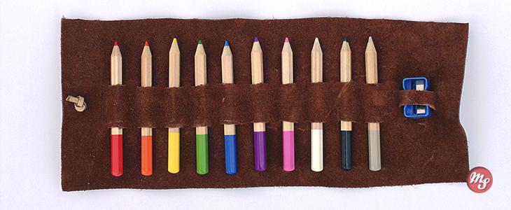 Простейший кожаный пенал для карандашей