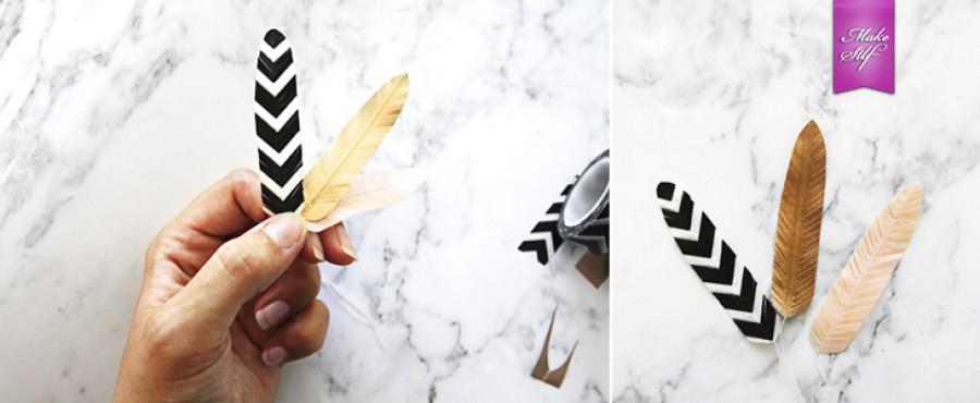 Декоративные перья своими руками