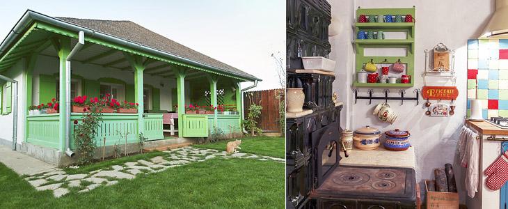 Красочный сельский дом с румынскими мотивами