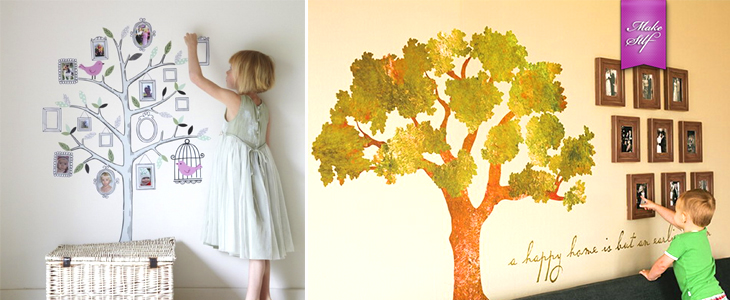 Семейное дерево в интерьере {30 Идей}