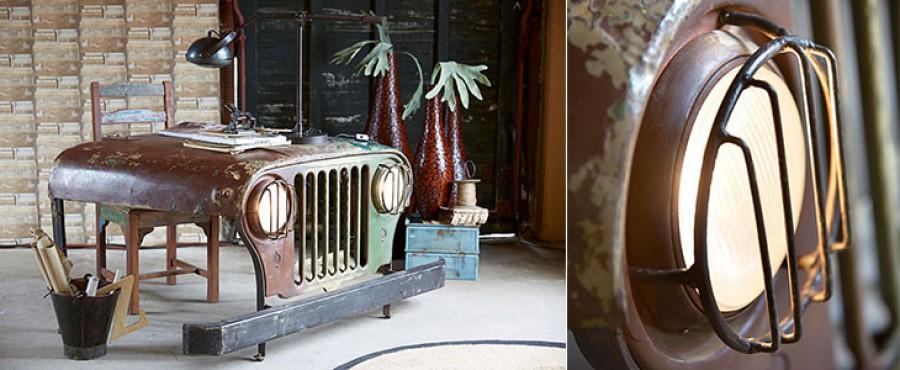 Оригинальный стол из частей кузова Jeep