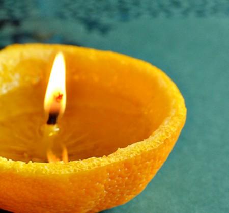 Свеча из апельсина