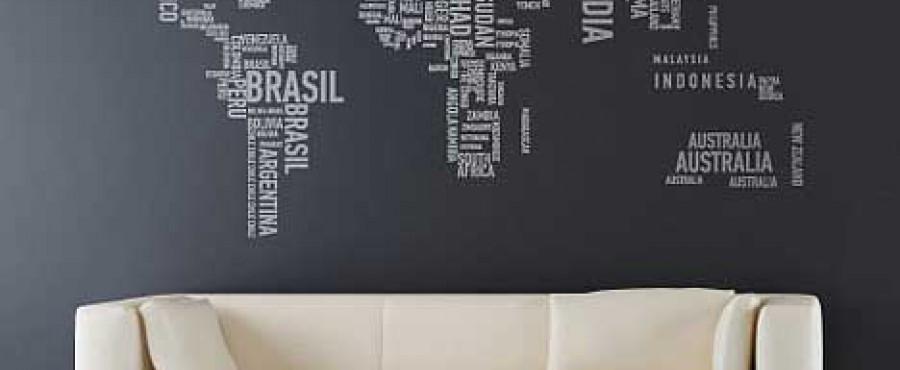 Декор стен с использованием гибридизации текста {идея}
