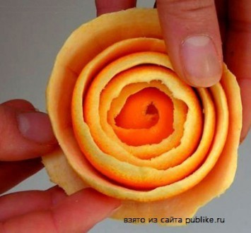 {своими руками} Розы из апельсинов