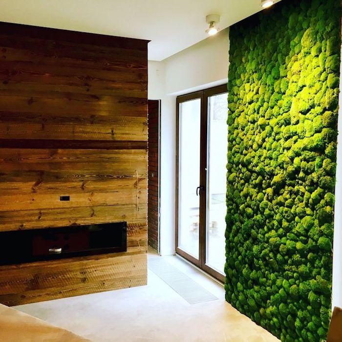 уметь метко на стене мох в квартире дизайн фото курортах