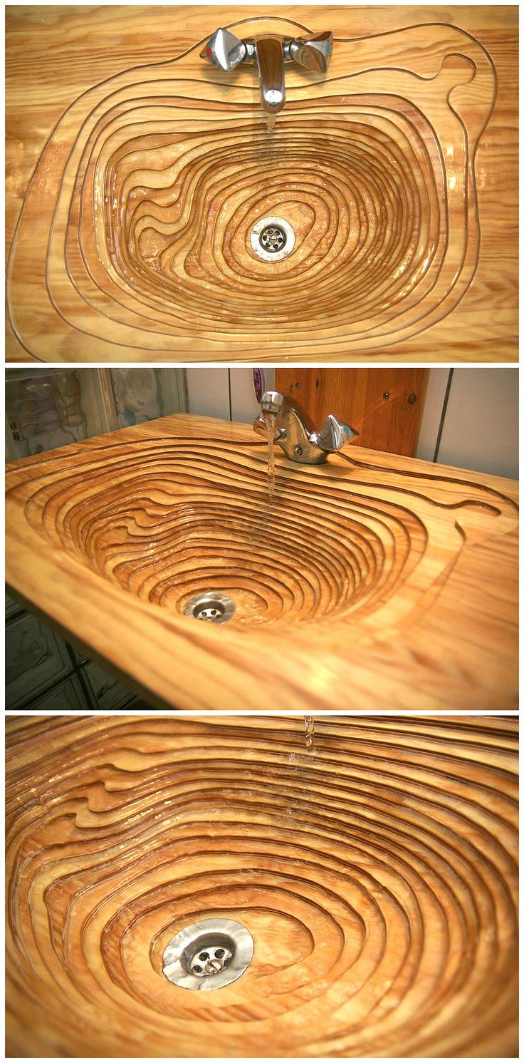 33 Невероятных умывальника из дерева