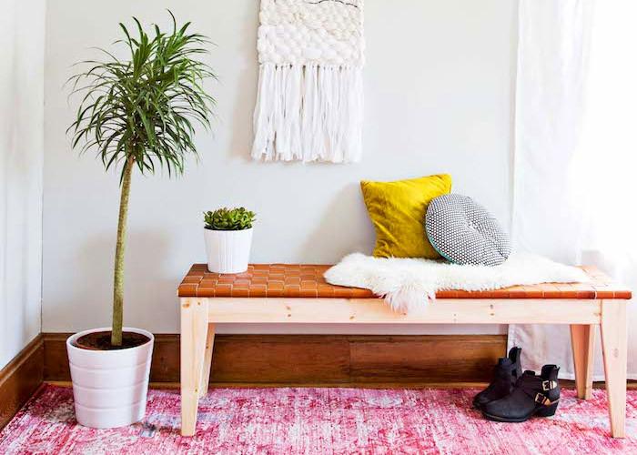 10 Простых проектов скамеек в прихожую
