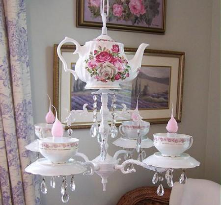 {своими руками} Декор с чайных чашек