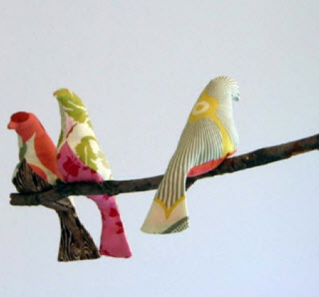 Птица из ткани {своими руками}