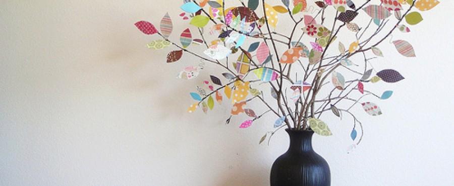 Бумажное дерево в вазе {своими руками}