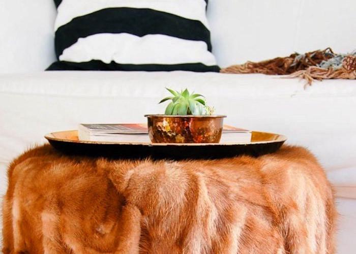 Прощай шуба - 15 вариантов мебели с искусственным мехом