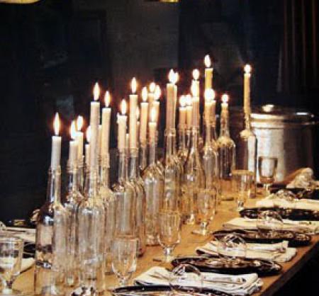 Свечки в винных бутылках {своими руками}
