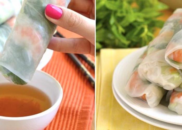 Свежие вьетнамской блинчики с начинкой