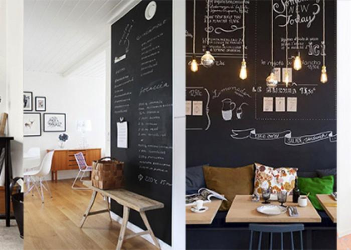 Меловая стена в интерьере. 32 Идеи