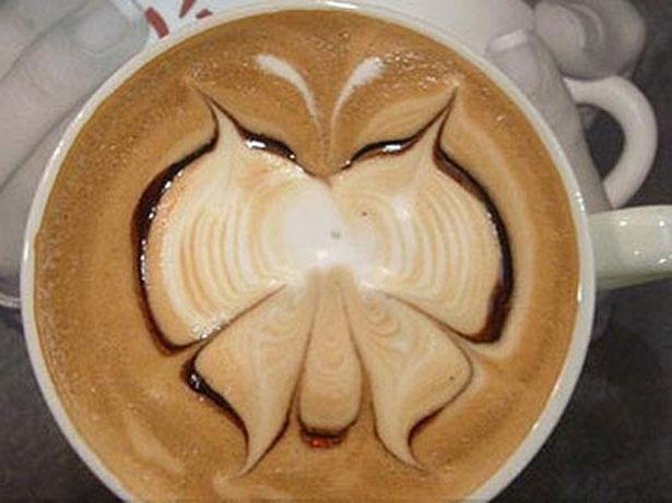 Рисунки на кофейной пене {ТОП 50}