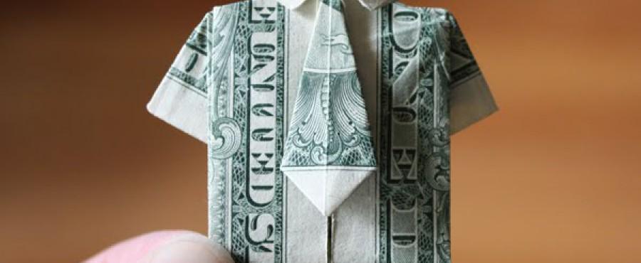 {своими руками} Оригами из денег