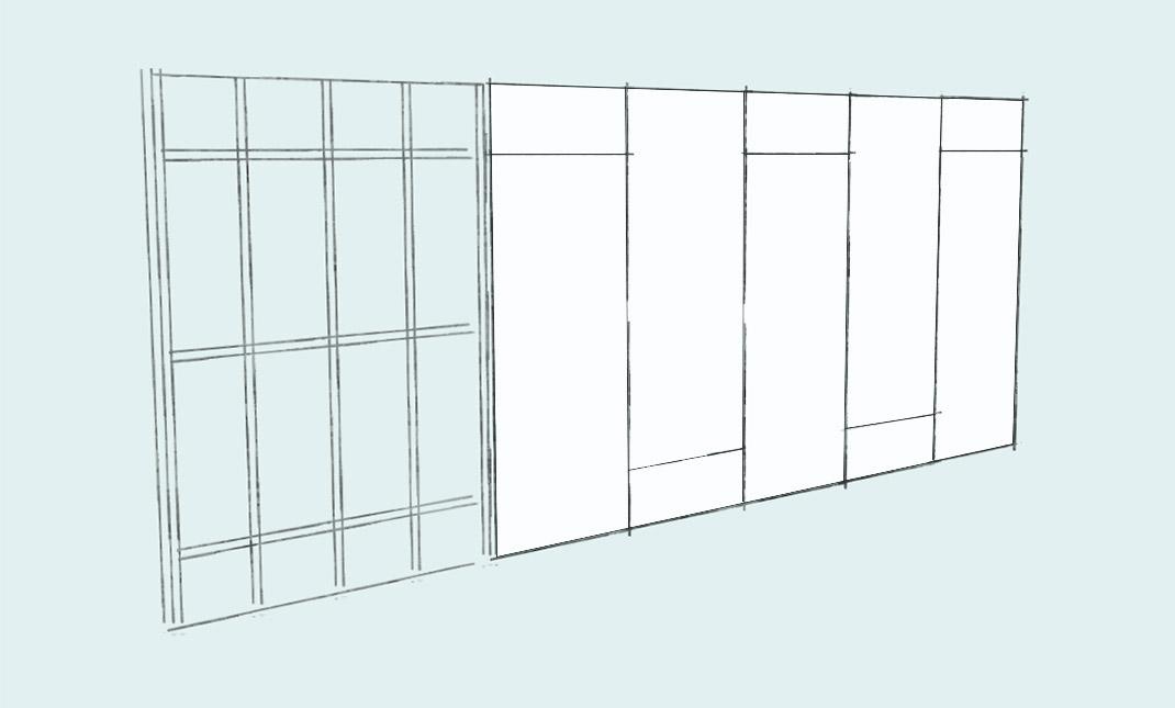 Расчет количества гипсокартона для перегородок, стен и потолков