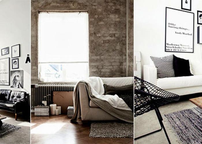 30 Гостинных комнат в промышленном стиле