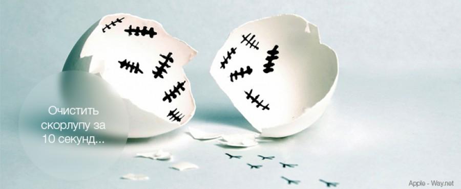 Как почистить яйцо за 10 секунд
