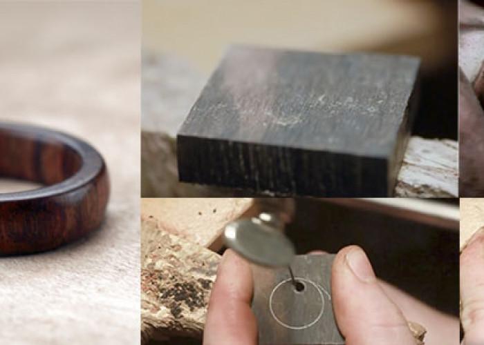 Как сделать кольцо из дерева. +Видео