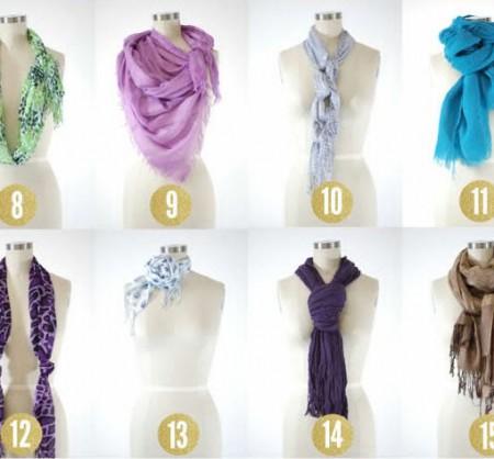 15 Креативных способов завязать платок