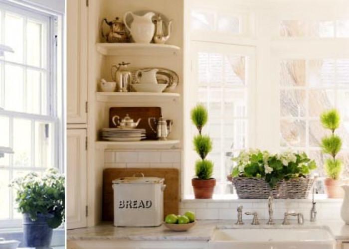 Открытые кухни со стеллажами. ТОП 35