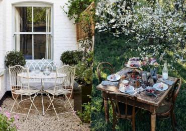 33 Уютные обеденные зоны в саду, которые призваны радовать глаз