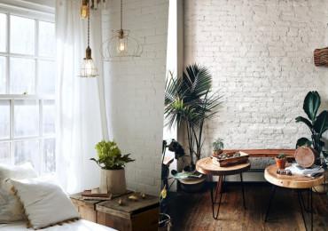 30 Впечатляющих пространств с белыми кирпичными стенами