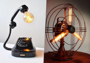 20 Светильников, в которых старые вещи обретают новую жизнь