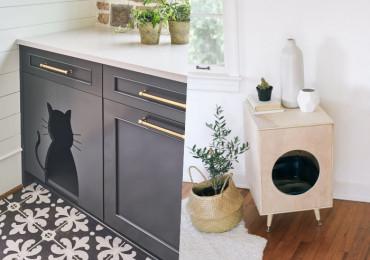 12 Крутых способов спрятать кошачий туалет