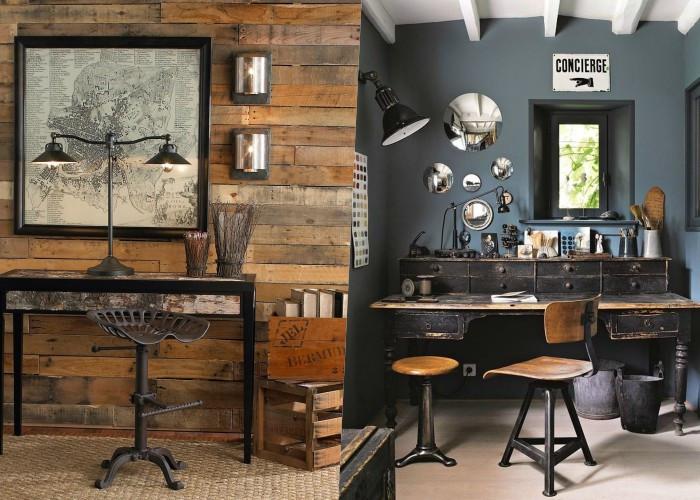30 Примеров уютного домашнего офиса в деревенском стиле