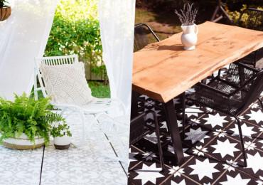 12 Способов преобразить бетонное патио при помощи краски