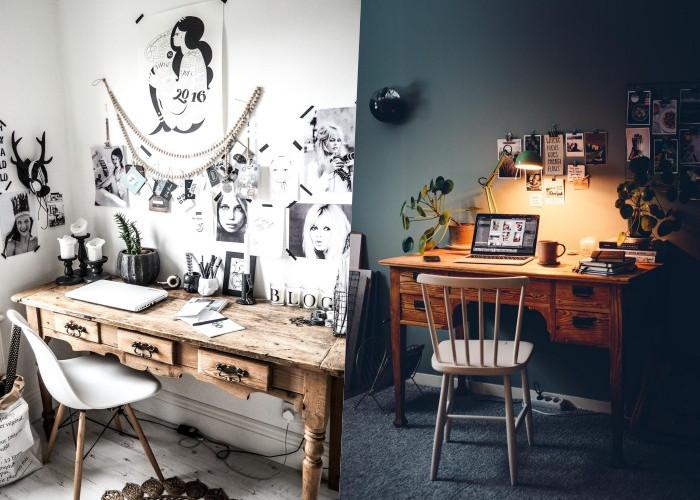 18 Способов интегрировать винтажный стол в домашний офис