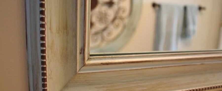Декор рамы для зеркала {своими руками}