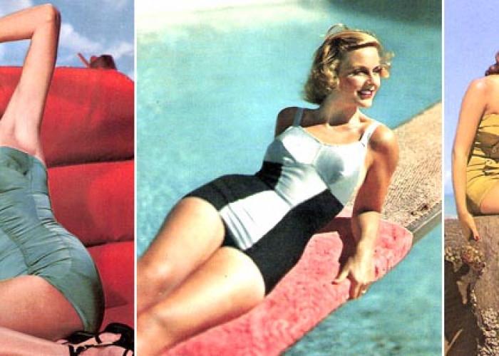 Цельные купальники 1940-50-х годов